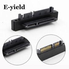 90D SATA 7+15 Pin 22 Pin Male to 22 Pin Female Right Angle Convertor Adapter