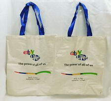 Lot 2 eBay Live 2006 Las Vegas Heavy Canvas Tote Bags The Power of All of Us