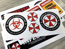 Umbrella Corporation Resident Evil Infected Zombie vinyl sticker decals 20pc