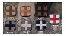 "Milspec Monkey Morale Patch Nylon Medical MEDIC CROSS 2"" x 2"" - See Color Menu"
