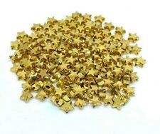 6mm Gold Star Spacer Beads x 20 Metal Plated Small Jewellery Making Bracelets UK