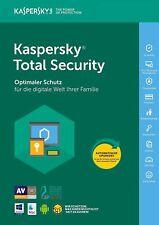 Kaspersky Total Security 2018 5 PC / Geräte 1Jahr Vollversion Key / Antivirus