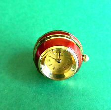 Vintage Bucherer Red & Gold Ball Pendant Watch Not Running