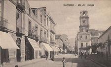 NP6881 - SORRENTO NAPOLI - VIA DEL DUOMO VIAGGIATA 1908