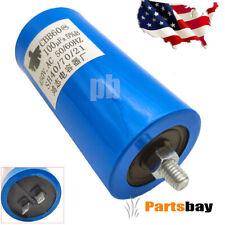 Cbb60 Run Capacitor 250Vac 250V Ac 100uF 50/60Hz Blue Ul listed W/Fixing Stud