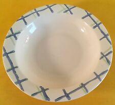 Pfaltzgraff Cloverhill Plaid Rimmed Soup/Cereal Bowl Dish Blue Green Plaid Rim