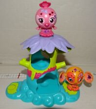 Zoobles Triplets #131 Pink Bird Celeste #133 Orange Mouse Jeromey with Happitat