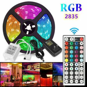 5M 2835 SMD RGB 300 LED String Light Strip Lamp 44Key Remote Control +12V Power