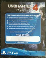 UNCHARTED 4 PS4 DLC-RAPINA Drake multiplayer la pelle e neve ARMA SKIN PACK solo