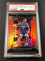 SHAI GILGEOUS-ALEXANDER 2018 PANINI SELECT #7 RED PRIZM ROOKIE RC /199 PSA 10