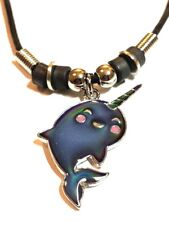 NEW Mood Color Change Narwhal  Pendant Necklace Narwhale Unicorn of the Sea