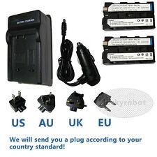 2pcs battery + charger for SONY NP-F330 NP-F550 CCD-TRV59E DCR-TRV900E 7.2V