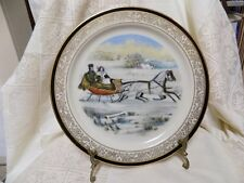 Porcelain Plate~Lenox~Limited Christmas Ed. ~The Road, Winter~1985~Currier Ives