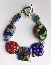 Beautiful Millefiori Glass Mixed Beads Bracelet Version 1