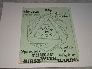 Face Out Fanzine #8  Electronic & Industrial Music, Nurse with Wound, Klaus S...