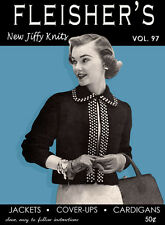 Fleisher's #97 c.1955 Vintage Knitting Patterns for Jackets Coverups & Cardigans