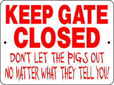 Pig Aluminum Sign Warning Security Funny Vinyl Graphics Applied H3125Pig