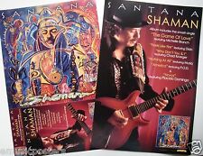 "Santana ""Shaman"" 2-Sided U.S. Promo Poster - Latin/Blues Rock, Jazz Fusion Music"
