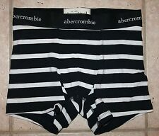NWT Abercrombie Boys XL Navy Blue White Striped Boxer Brief Underwear