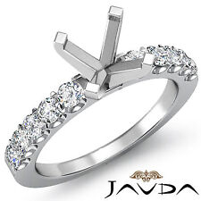 Solitaire Style Round Diamond Engagement Semi Mount Ring 14k White Gold 0.75Ct