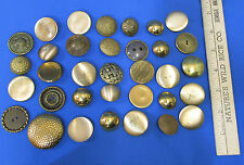 Mixed Lot 34 Vintage Goldtone Metal Buttons Brass Copper Ornate Button Filigree