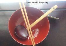 Ramen Bowl Chopsticks Authentic Ramen Spoon Noodle Udon Japanese - JAPAN