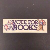 Vtg 1980s Vote for Books Paper Bookmark - Republican Democrat Elephant Donkey