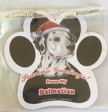 Dalmation Magnet For Fridge/Car Season's Greetings