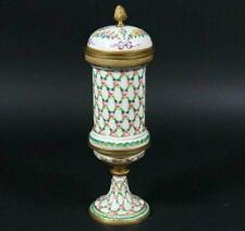 Antique Porcelain Urn/Pokal w/Bronze Mounts Hand-Painted Sevres France dat.1770
