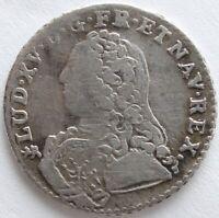 LOUIS XV 1/10 ECU AUX BRANCHES D'OLIVIER 1728 T
