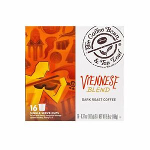 Viennese Blend Dark Roast Coffee Kcups (4-16pks/64 Kcups) Best By 5/22/2021