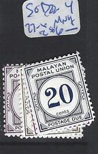 MALAYA  MPU   (P3007BB)   POSTAGE DUE SG D22-4, 27-8  MNH