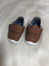 **Carter's Finn Casual Booties - Infant Boys Size 2 Brown Blue