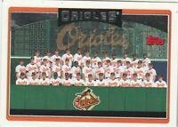 FREE SHIPPING-MINT-2006 Topps #268 Baltimore Orioles Team PLUS BONUS CARDS