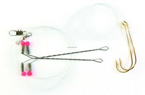 Eagle Claw 015H-2 Crappie Rig Auto Rotating Two Gold Hook w/Spreader Rig