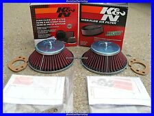 "2 K&N Air Filter's for Datsun 240z with SU Hitachi 1-3/4"" Round Top Carbs NEW"