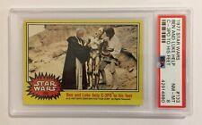 1977 TOPPS STAR WARS TRADING CARD - SERIES 3: YELLOW - #133 BEN AND LUKE - PSA 8