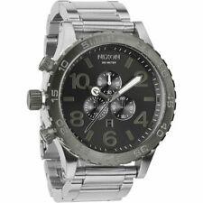 Authentic New Nixon 51-30 Watch Silver Gunmetal A083-1762 Chrono A0831762