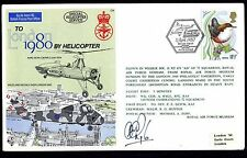 GB RAF C74 to London 1980 by Helicopter Unterschrift Pilot A. Ryle