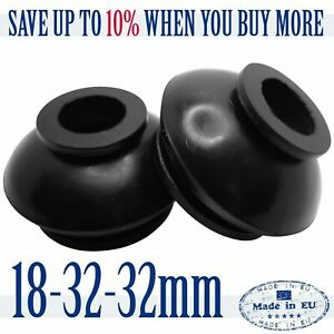 2 X UNIVERSAL High Quality Rubber 18 32 32 Track Rod End and Ball Joint Boots