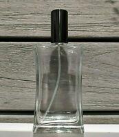 100 ml Glas Parfum Flakon Flasche leer + Zerstäuber Alu SCHWARZ, Nachfüllbar NEU
