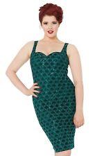 Voodoo Vixen Pin up 50's Vintage Rockabilly Retro Green Fleur Dress Dra8126 S