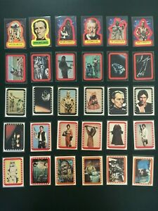 1977-78 Topps STAR WARS 30-Sticker Lot from Series 1, 2, 3, 4 and 5