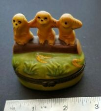 See No Evil Monkies Monkeys Trinket Box