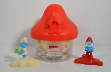 "2017 Red Mushroom House 4"" McDonald's Action Figure #1 Smurfs Lost Village Movie"
