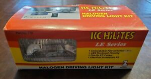 NOS KC HILITES LE SERIES Halogen Driving Light Kit #770 RARE
