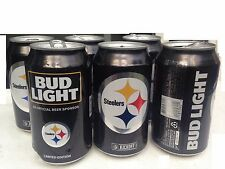 2016 NFL Pittsburgh Steelers Empty Beer Bud Light Kickoff Cans Lot of 6 Pack