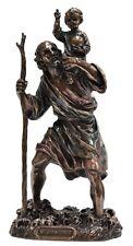 Veronese Bronze Figurine Religious St Christopher Saint Statue