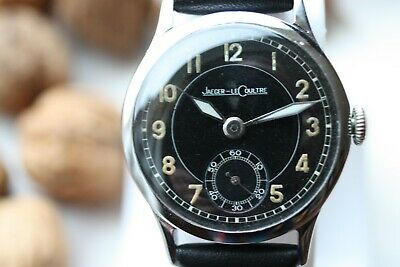 Jaeger LeCoultre Military Armbanduhr Wristwatch ca.1940 Rare Swiss Made