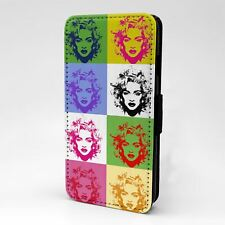For Apple iPod Touch Flip Case Cover Madonna Pop Art - A147